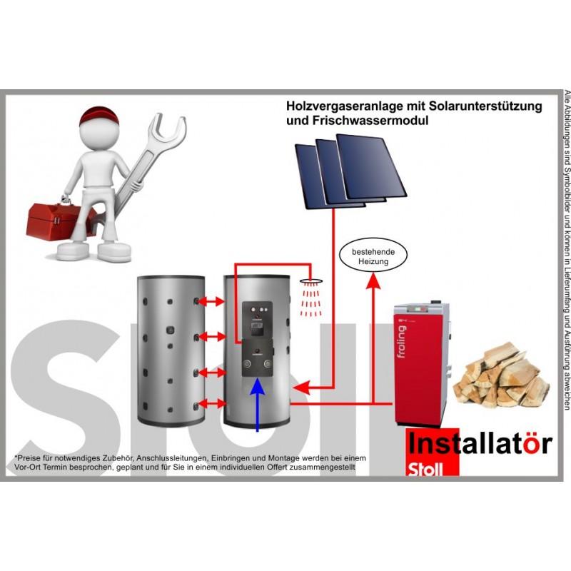 fr ling st ckholzkessel s4 mit 2000l puffer 7 5 m solar. Black Bedroom Furniture Sets. Home Design Ideas